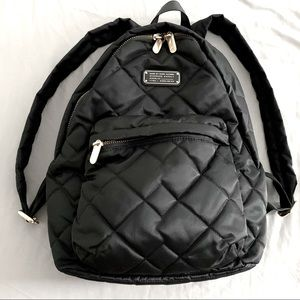 Marc Jacobs Black Quilted Backpack